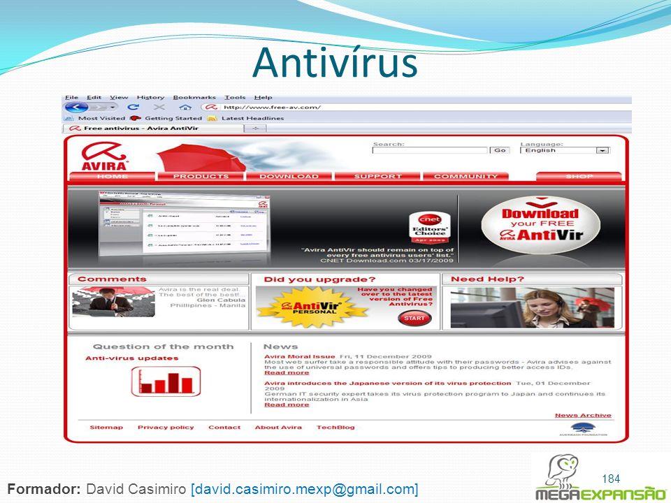 Antivírus Formador: David Casimiro [david.casimiro.mexp@gmail.com]